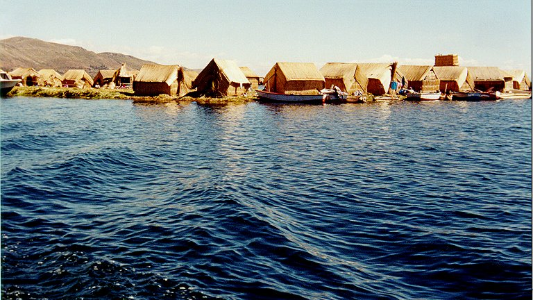 Uros Floating Island on Titicaca Lake